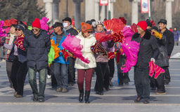 Baile cuadrado en China de nordeste Imágenes de archivo libres de regalías
