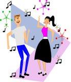 Baile de dos adolescencias Imágenes de archivo libres de regalías