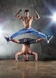 Baile de dos hombres Imagen de archivo libre de regalías