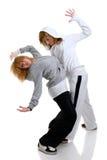 Baile de dos mujeres jovenes Imagen de archivo libre de regalías
