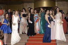 Baile de fin de curso búlgaro de la belleza Foto de archivo