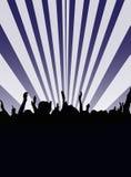 Baile de la audiencia stock de ilustración