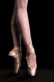 Baile de la bailarina en Pointe Foto de archivo libre de regalías