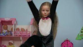 Baile de la bailarina de la niña metrajes