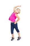 Baile de la chica joven foto de archivo