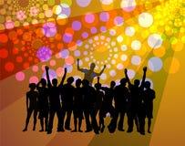 Baile de la gente - atmósfera del disco stock de ilustración
