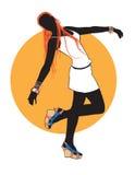 Baile de la muchacha stock de ilustración