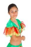 Baile de la muchacha con ropa latinoamericana Fotografía de archivo libre de regalías