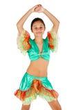Baile de la muchacha con ropa latinoamericana Imagen de archivo libre de regalías