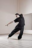 Baile de la muchacha de Hip-hop imagen de archivo libre de regalías