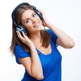 Baile de la muchacha del adolescente de la música Imagen de archivo libre de regalías