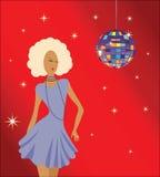 Baile de la muchacha en el disco ilustración del vector