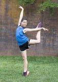 Baile de la muchacha en la hierba Imagen de archivo
