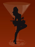 Baile de la mujer de la barra Imágenes de archivo libres de regalías