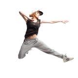 Baile de la mujer del hip-hop Fotografía de archivo libre de regalías