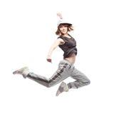 Baile de la mujer del hip-hop Fotos de archivo libres de regalías