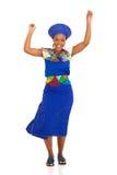 Baile de la mujer del Zulú fotos de archivo