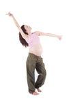 Baile de la mujer embarazada Fotos de archivo