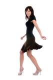 Baile de la mujer joven imagen de archivo