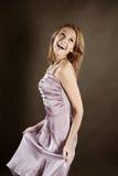 Baile de la mujer joven Fotografía de archivo
