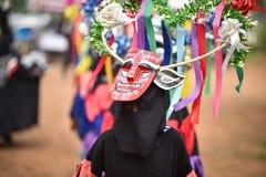Baile de la phi-Khon-Nam del festival de la ceremonia de la lluvia de Tailandia Imagen de archivo libre de regalías
