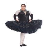 Baile de la reina de fricción en un tutú Imagen de archivo libre de regalías