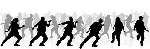 Baile de muchos adolescentes stock de ilustración