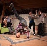 Baile de rotura Headspin Imagen de archivo