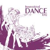 Baile de salón de baile del día de la danza Latina Fotos de archivo