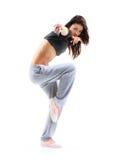 Baile de salto del adolescente del estilo del hip-hop Imagen de archivo libre de regalías
