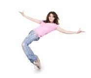 Baile del adolescente sobre blanco Imagenes de archivo