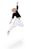 Baile del adolescente sobre blanco Foto de archivo libre de regalías