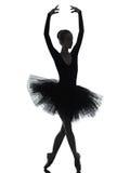 Baile del bailarín de ballet de la bailarina de la mujer joven Imagenes de archivo