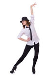 Baile del bailarín de la mujer Foto de archivo