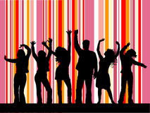 Baile del disco Fotos de archivo libres de regalías