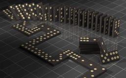 Baile del dominó Stock de ilustración