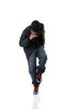 Baile del estilo de Hip Hop del baile del hombre Imagen de archivo libre de regalías