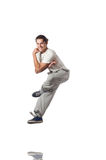 Baile del hombre aislado foto de archivo libre de regalías