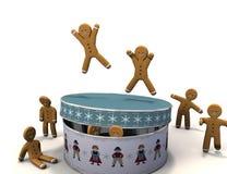Baile del hombre de pan de jengibre Imagen de archivo libre de regalías