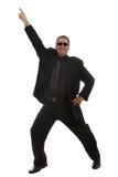 Baile del hombre en el club Imagenes de archivo
