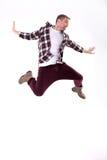 Baile del hombre joven Imagen de archivo libre de regalías