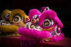 Baile del león del chino tradicional por Año Nuevo chino de la celebración Fotos de archivo