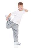 Baile del niño pequeño en blanco Fotografía de archivo libre de regalías