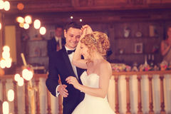 Baile del novio y de la novia Foto de archivo