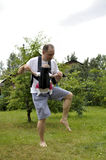 Baile del padre y del bebé Imagen de archivo