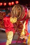 Baile del tambor en Año Nuevo chino. Foto de archivo libre de regalías