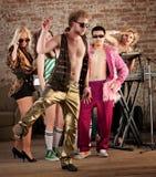 Baile divertido Fotografía de archivo libre de regalías
