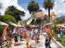 Baile durante tres reyes Day en Abancay Fotos de archivo