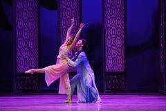 Baile en el acto del claro de luna- en segundo lugar de los eventos del drama-Shawan de la danza del pasado Foto de archivo