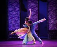 Baile en el acto del claro de luna- en segundo lugar de los eventos del drama-Shawan de la danza del pasado Fotografía de archivo